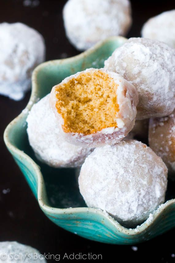 Mini muffins that taste like powdered sugar donuts. Baked, not fried!