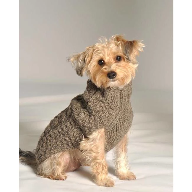 Chilly Dog Cable Knit Dog Sweater Gray (With images) | Dog ...