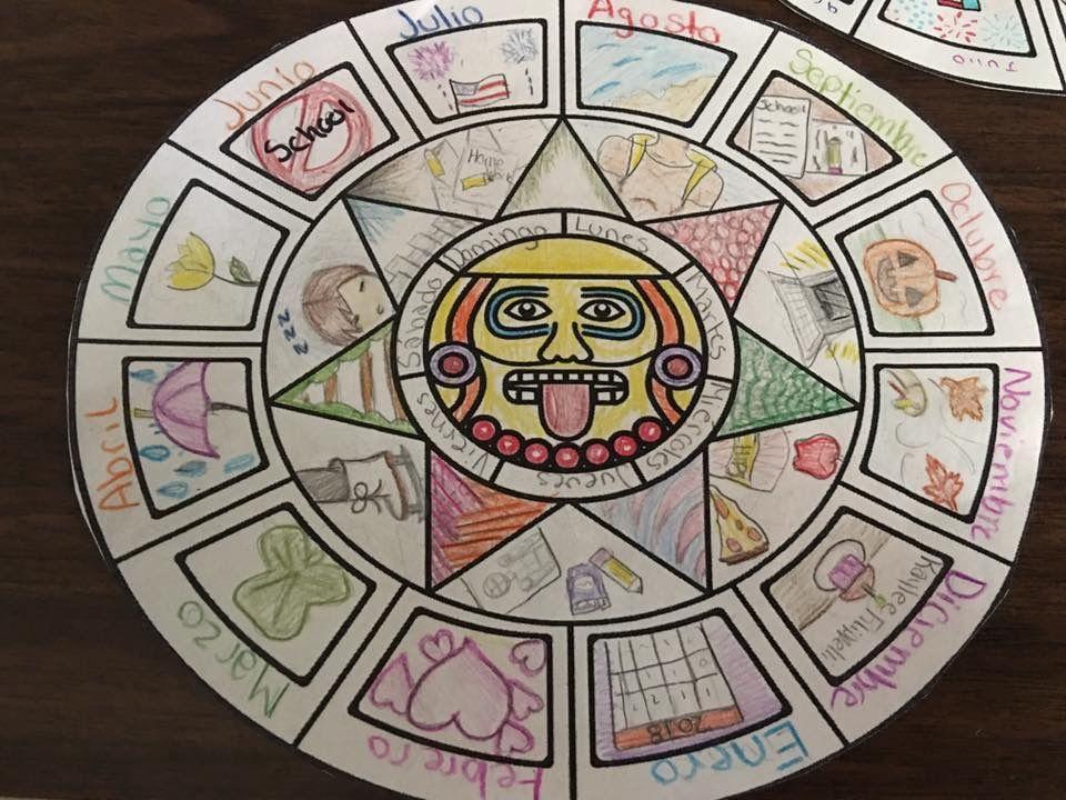 Aztec Calendar Class Art Projects Aztec Calendar Aztec Art