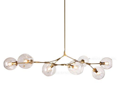 Replica Lindsey Adelman Branching Bubble Chandelier 7 Light Gold