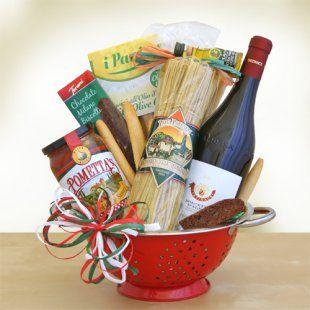 diy pasta and sauce gift baskets | ... Wine & Pasta Gift Basket ...