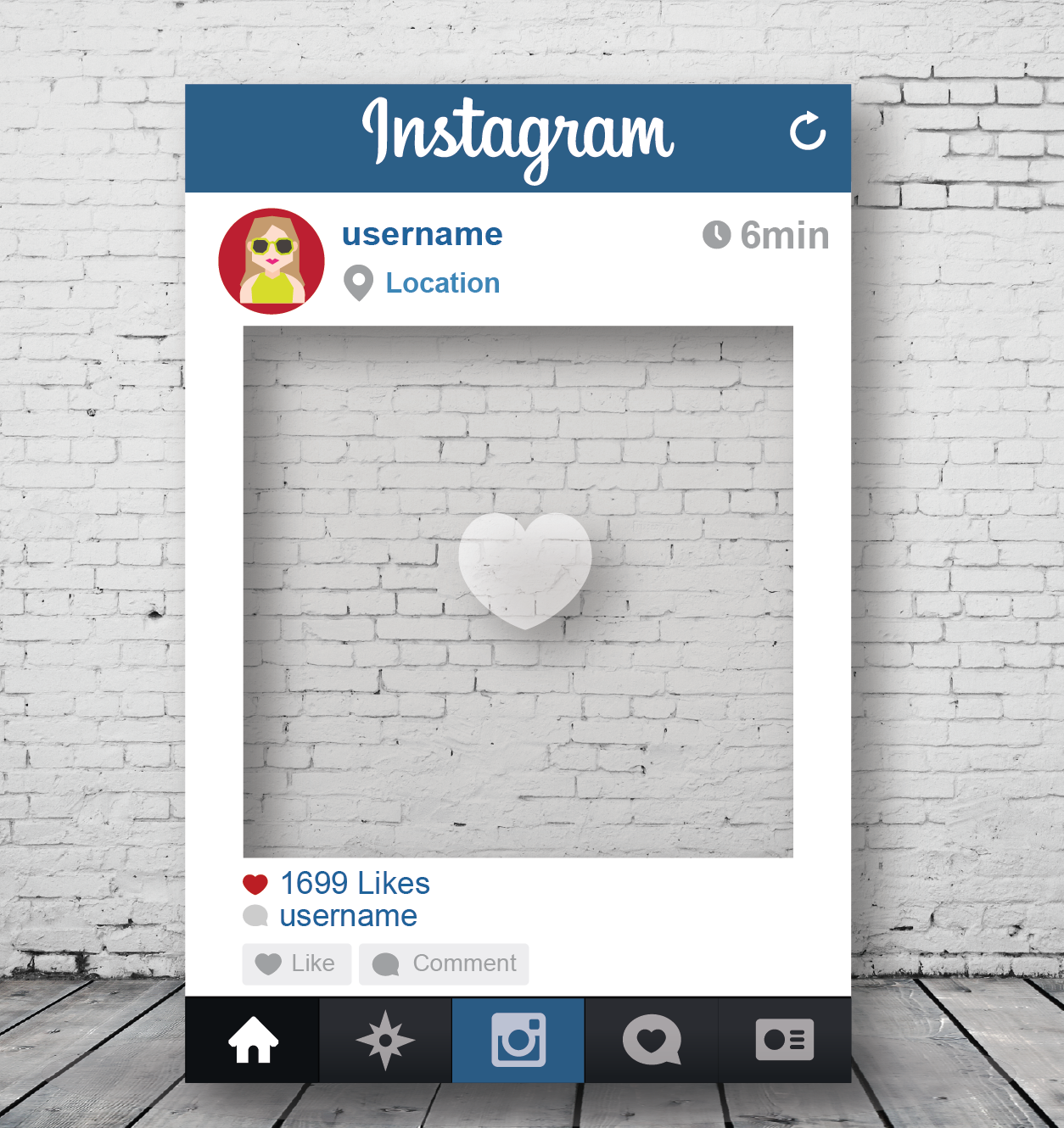 instagram picture frame - HD1254×1330