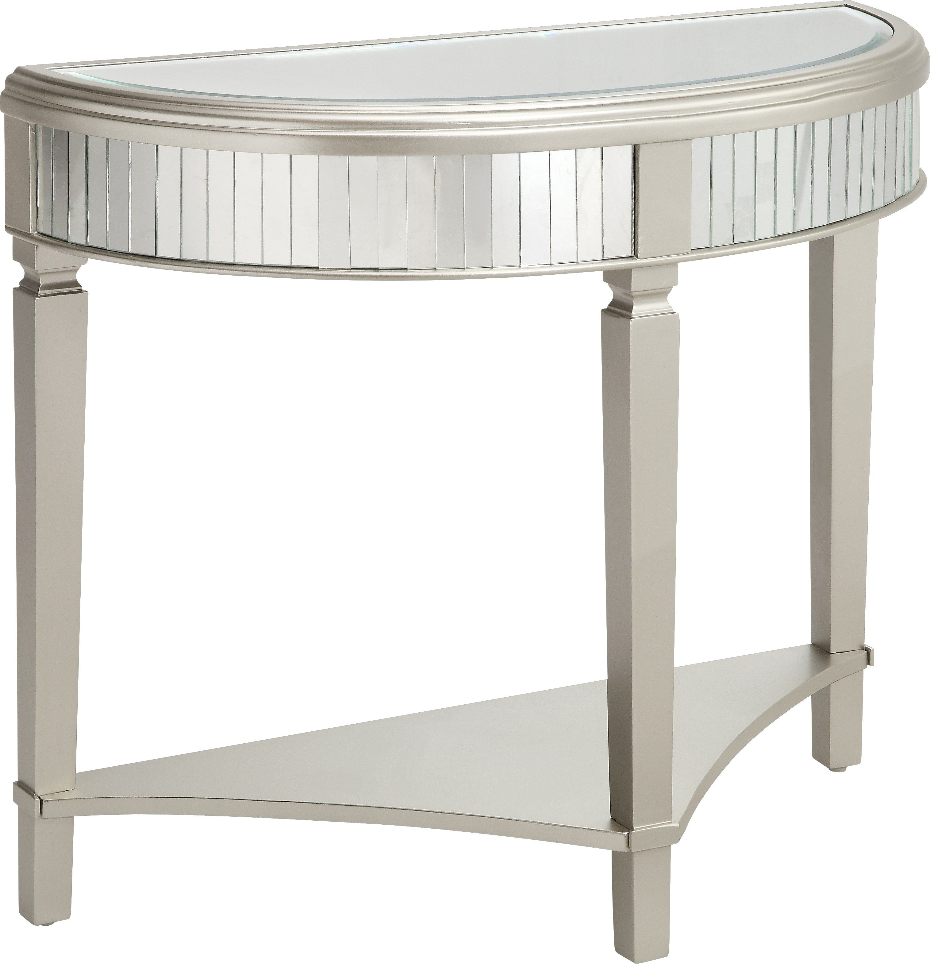 Reflection Road Champagne Demilune Console Table Console Table Demilune Table