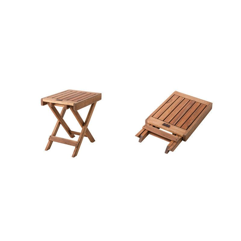 Wooden Side Table Garden Picnic Camp Portable Foldable Carry Bag Nx 513 Azumaya Azumayaan Organicstyle