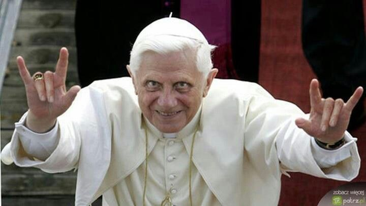 Image result for the pope looking evil