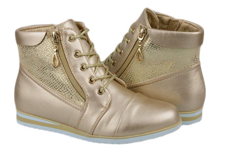 Botki Trzewiki Dziewczece Zlote Gofc 1592 31 7050721910 Oficjalne Archiwum Allegro Wedge Sneaker Sneakers Shoes