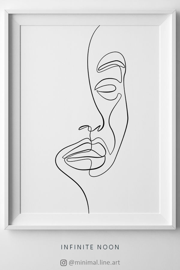 Abstract One Line Face Printable Minimalist Wall Art One Etsy In 2021 Line Art Drawings Face Line Drawing Abstract Drawings
