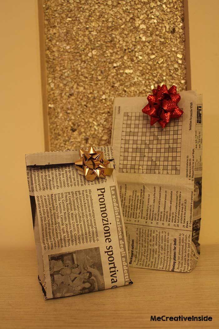 Bustine carta giornale me creative inside