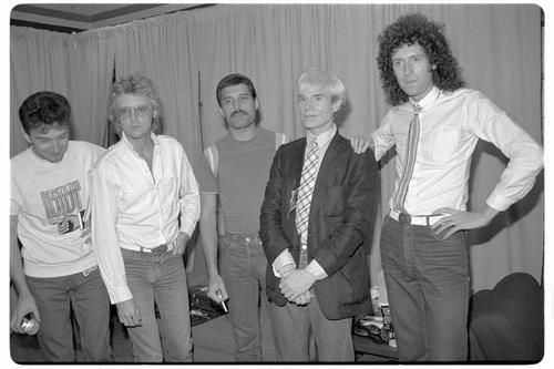 Queen with Andy Warhol