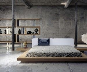 in an open industrial style loft a beautiful bed is key this - Industrial Bedroom Design Ideas