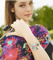 Stacked Memory Wire Bracelet and Large Clutch Tote