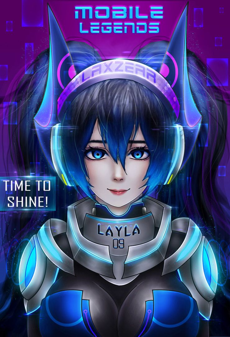 Layla Mobile Legends By Laxzear Miya Mobile Legends Mobile Legend Wallpaper Mobile Legends
