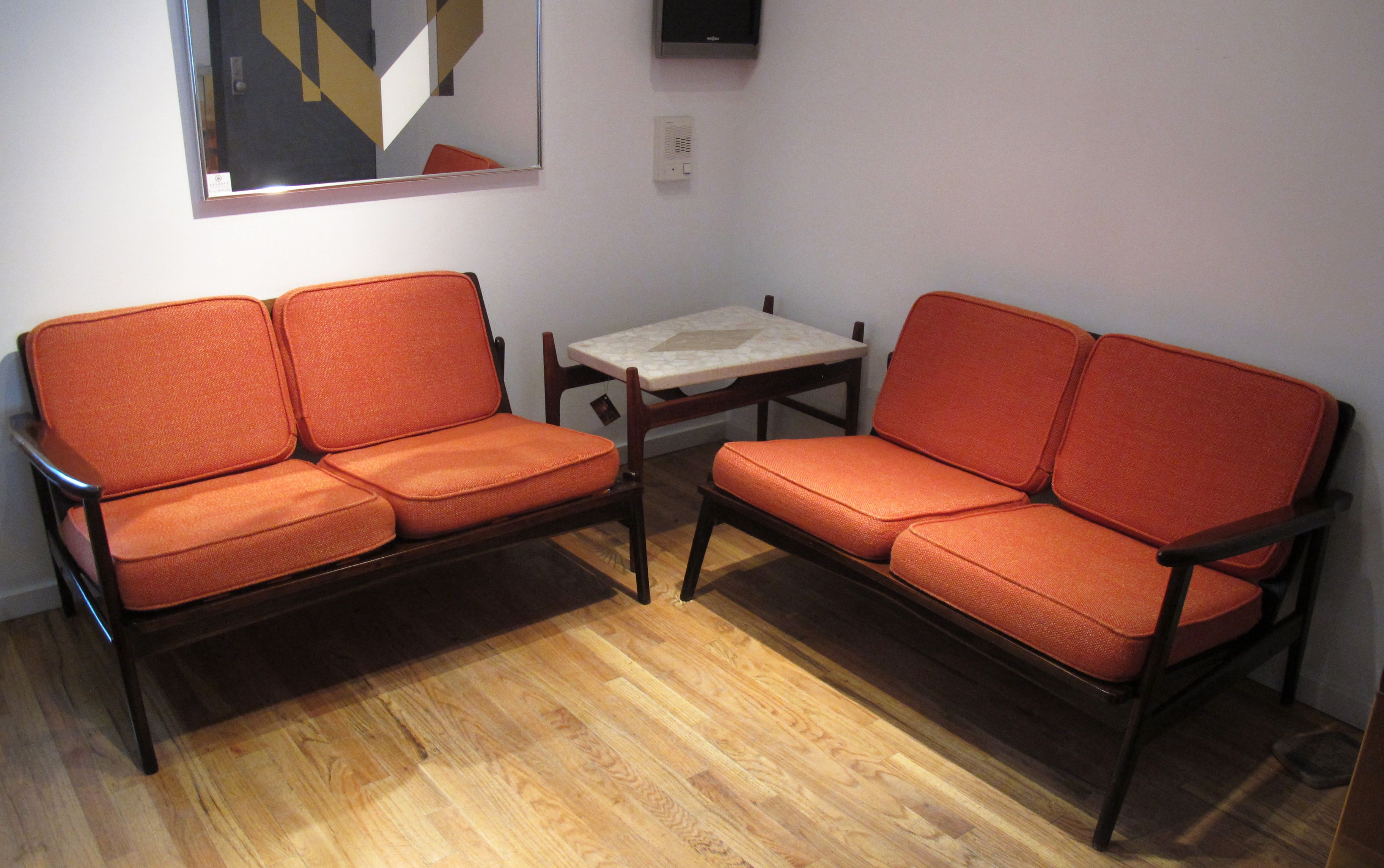 DANISH MODERN OAK SECTIONAL SOFA