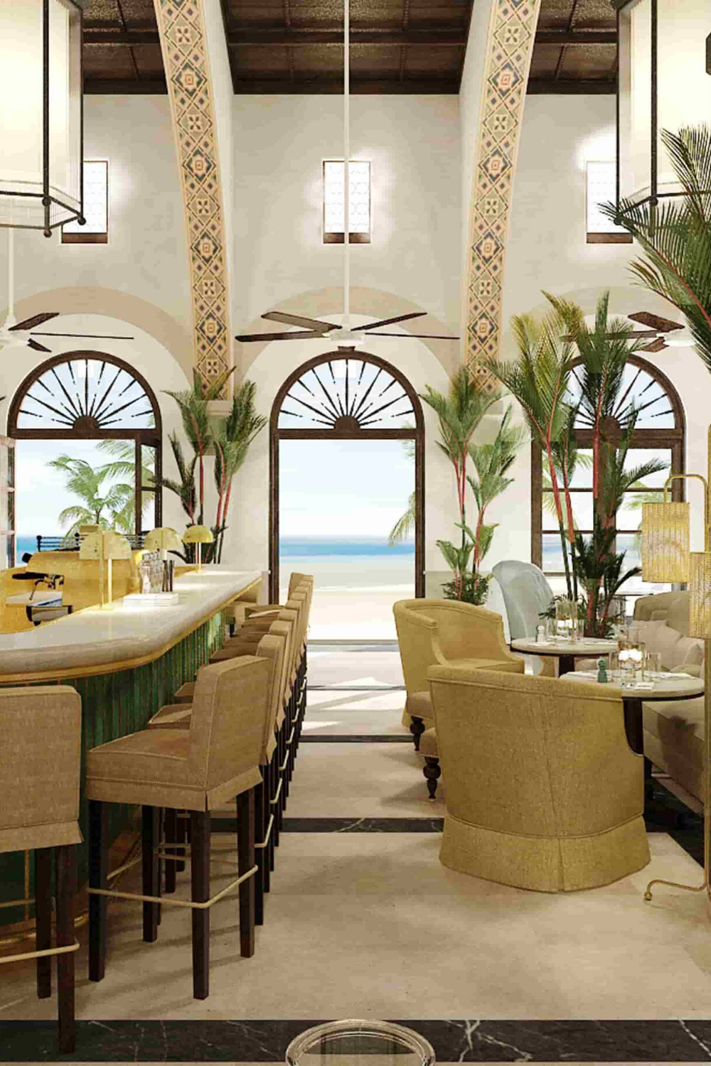 The Surf Club Restaurant By Joseph Dirand Top Interior Designers Luxury Interior Design Luxury Furniture
