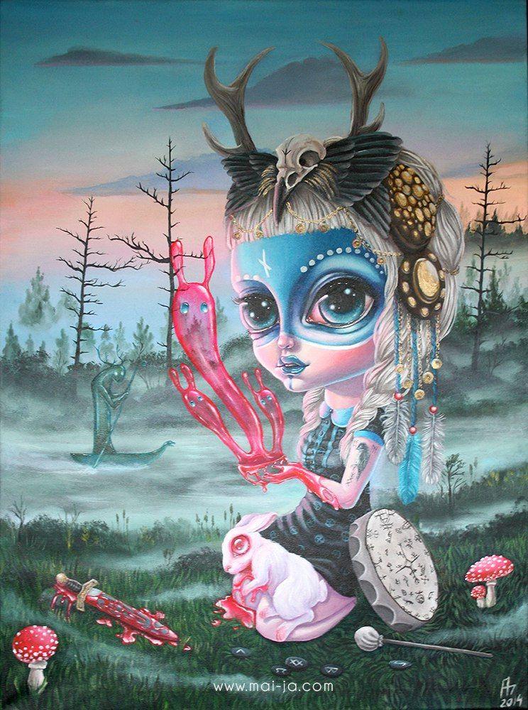 Wisteriflower fantasy art - Dessin feerique ...