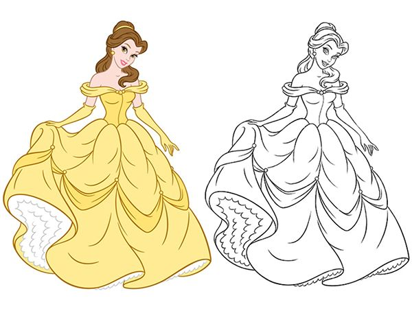 Disney Consumer Products Princess Style Guide Art On Behance Disney Princess Coloring Pages Disney Princess Colors Disney Drawings Sketches
