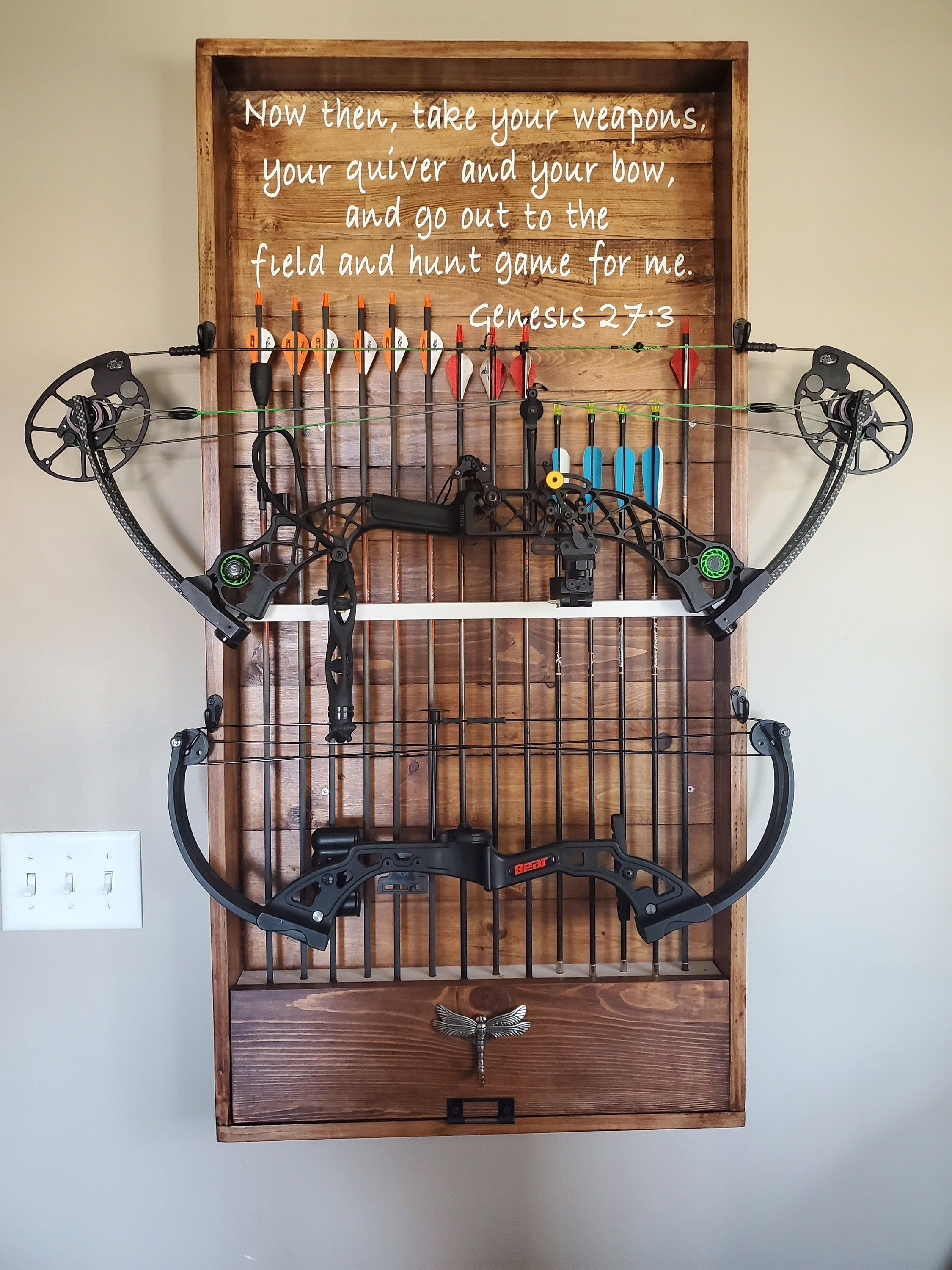wall hung bow rack ii with images bow rack wall on wall hanger id=98305