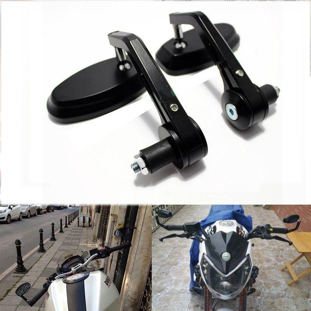 Manillar De Aluminio Espejo retrovisor Espejos Laterales del Extremo Del Motor Accesorios de La Motocicleta Cafe Racer Para Suzuki Bandit y Kawasaki z750