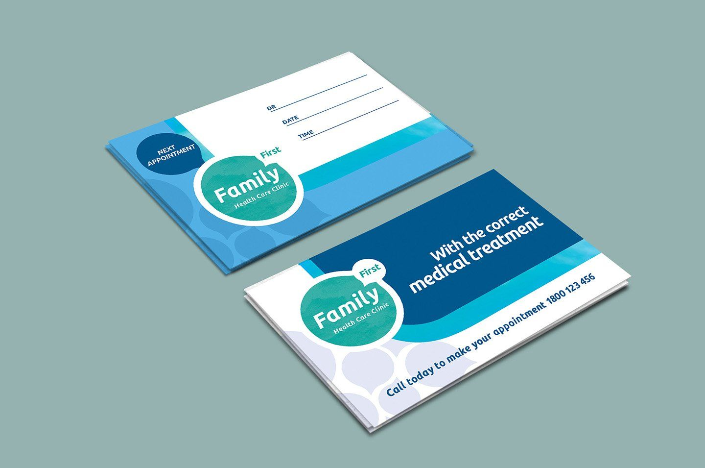Healthcare Clinic Appointment Card Medical Business Card Free Business Card Templates Business Card Template
