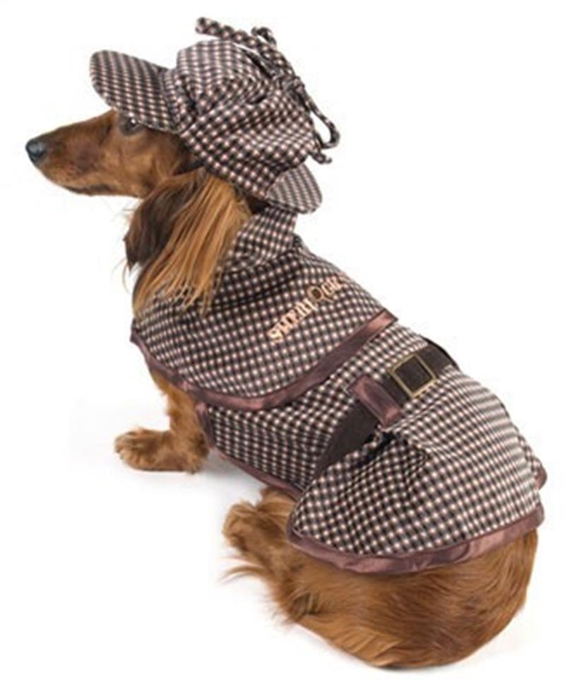 Deluxe Sherlock Bones Holmes Tweed Costume Coat With Hat Sherlock Holmes Costume Dog Costume Dog Clothes