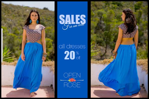 #Every #week #sales <3  Αυτη την εβδομαδα μεχρι την Κυριακη 22 Μαιου ολα τα φορεματα -20%!!!!  <3 #shopping #fashion #sales #lowprice www.openrose.gr