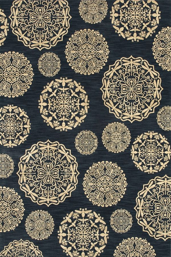 Shaw Bob Timberlake Queen Annes Lace Navy 18400 Area Rugs