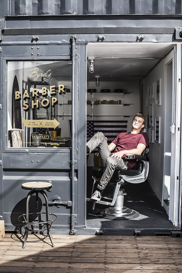 Byrd Barber Shop In La Barber Shop Decor Barber Shop Interior Barbershop Design