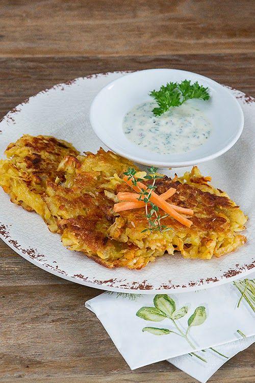 Schnelle Karotten-Puffer mit Kichererbsenmehl s c h n e l l e - schnelle vegane k che