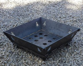 22x22 modular fire pit 25 steel plate no muebles for Prefabricated fire pits