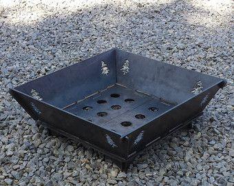 22 x22 modular fire pit 25 steel plate no welding for Prefab fire pits