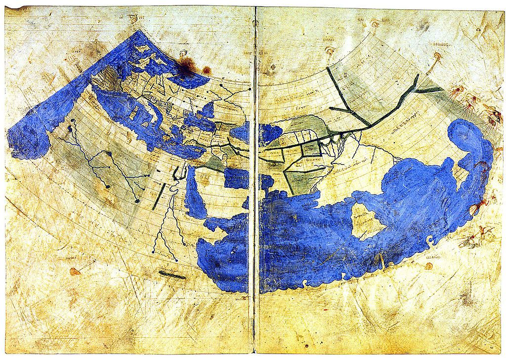 The Oldest Surviving Ptolemaic World Map Redrawn According To His - Us map redrawn background