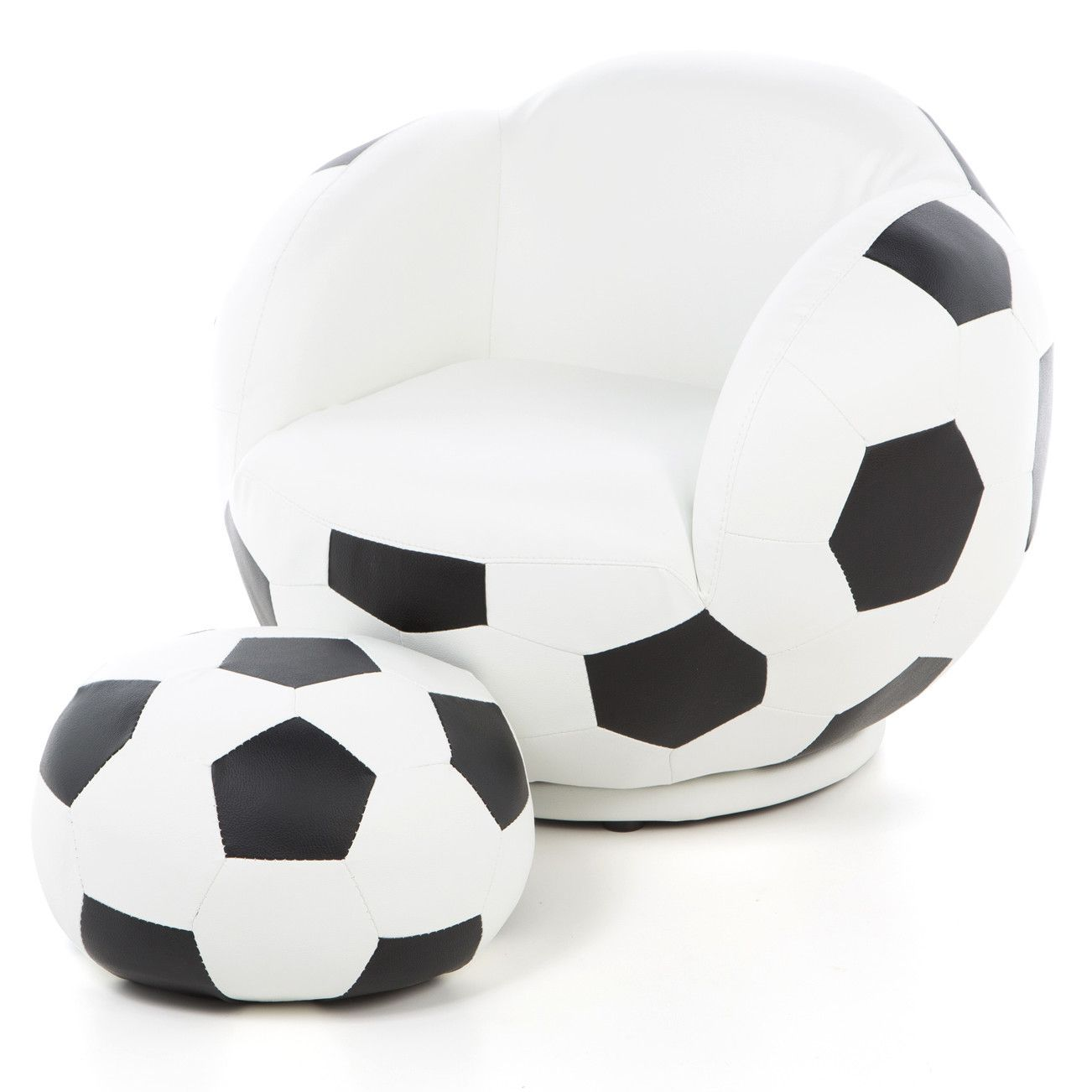 Kidu0027s Soccer Ball Chair And Ottoman