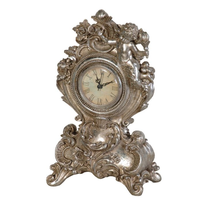 Antique Silver Clock Pictures | Mantel Clocks   Funky Statement Clocks |  The Look