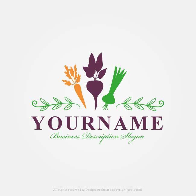 Make Online Organic Vegetables Logo Free Logo Design Maker Logo Design Free Logo Design Free Logo