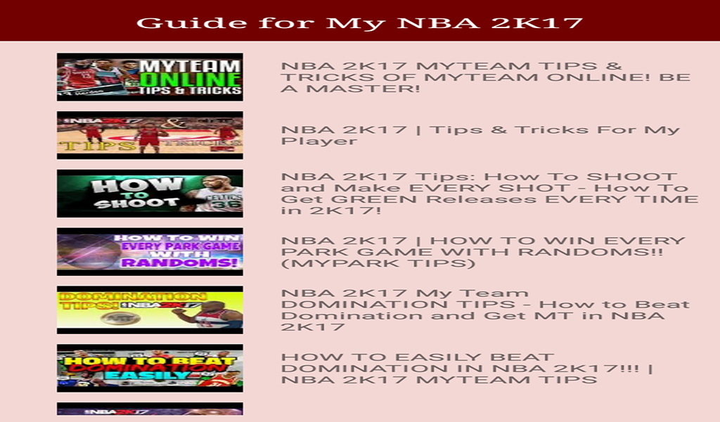 Guide For My Nba 2k17 Guide Nba Nba Guide Game App