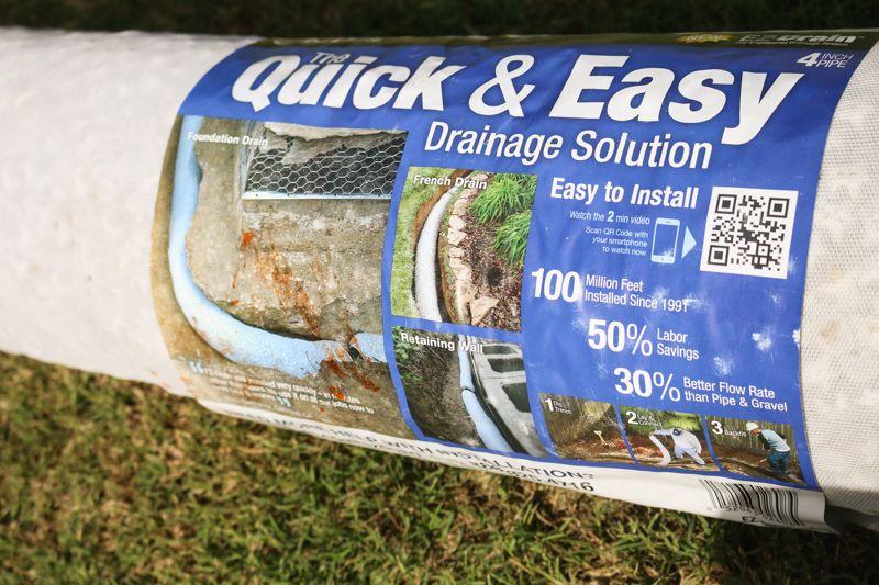 Easy DIY French Drain | French drain, French drain diy ...