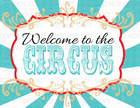 Printable Diy Vintage Circus Welcome To The By Onelovedesignsllc
