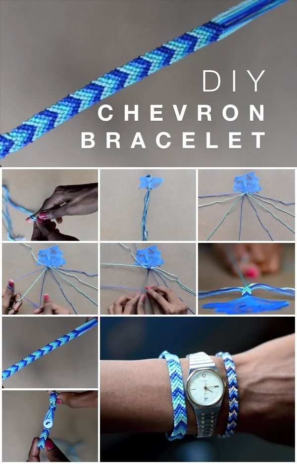 Here's the link to the tutorial >> How to Make Chevron Friendship Bracelet