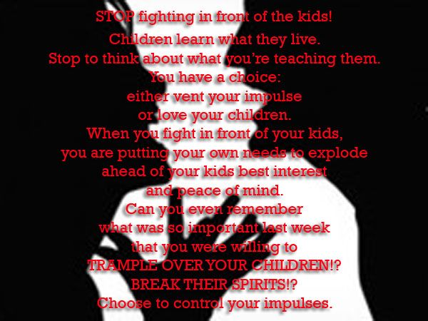 stop fighting in front of your kids - Dr  Phil