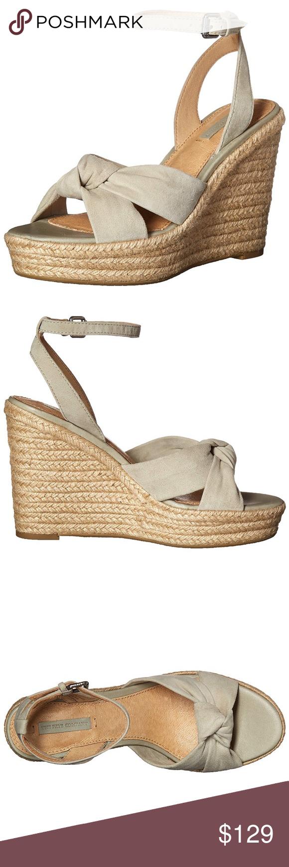 ae0dbfaf48e Frye Charlotte Twist Sage Espadrille Wedge Sandals New In Box- Frye ...