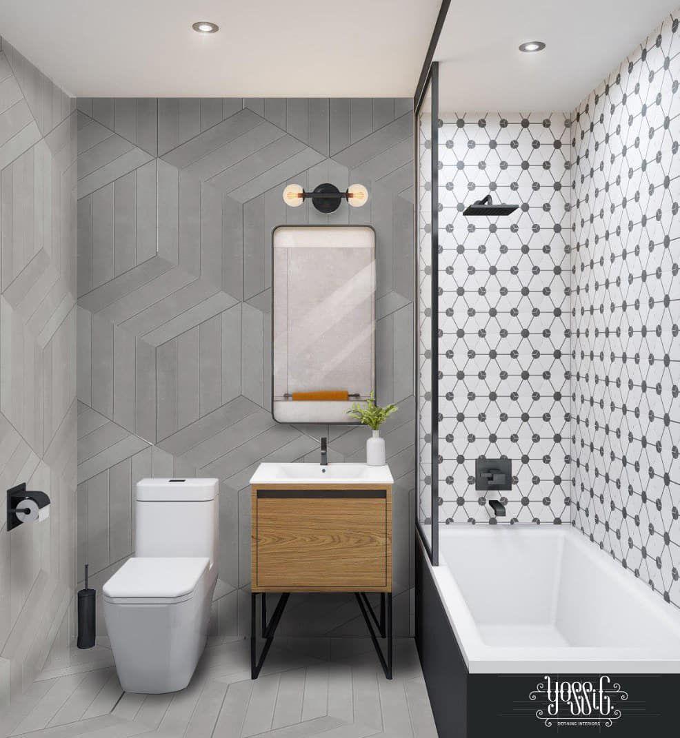 "Yossi G's Instagram photo: ""Modern bathroom design #yossigdesign #interiordesign #foyerdesign #moderndesign #designusa #lovedesign #interiorstyle #styledesign…"""