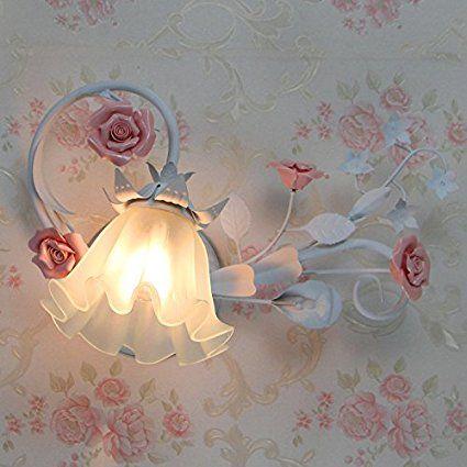 Schlafzimmer Wohnzimmer Restaurant Weihnachten amerikanische Wandleuchten Wandleuchten geschnitzten retro Kinder Nachttisch Lampe leuchtet, Rosa vor dem Spiegel-YU&XIN