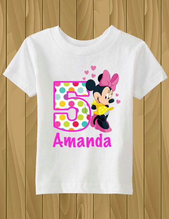 256d169a8 Camiseta de cumpleaños personalizado de Minnie Mouse | party ideas ...