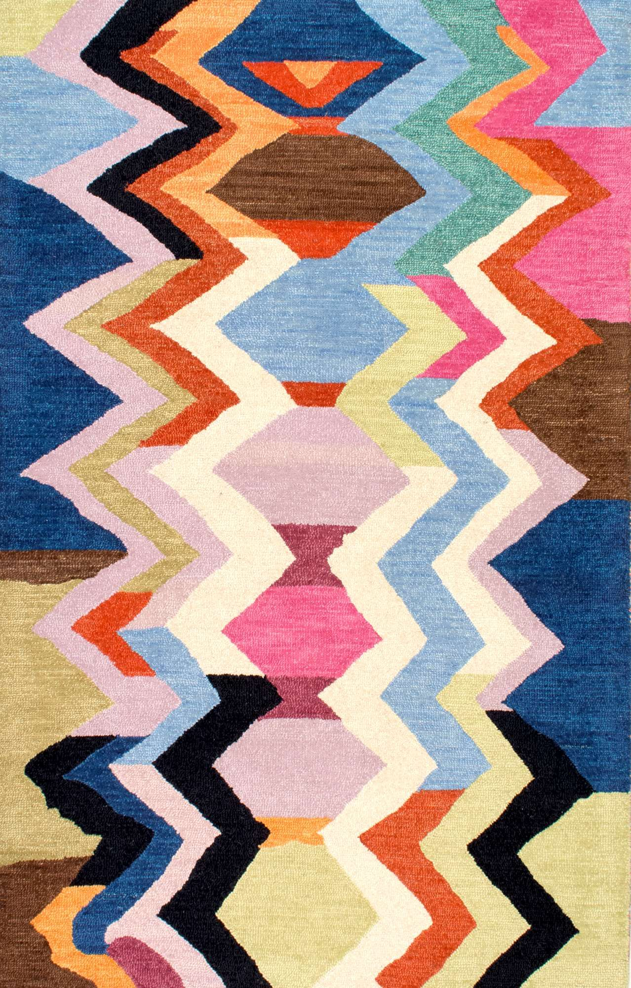 Tikal Striped Chevron Multi Rug Hand Tufted Rugs Chevron Area Rugs Wool Area Rugs