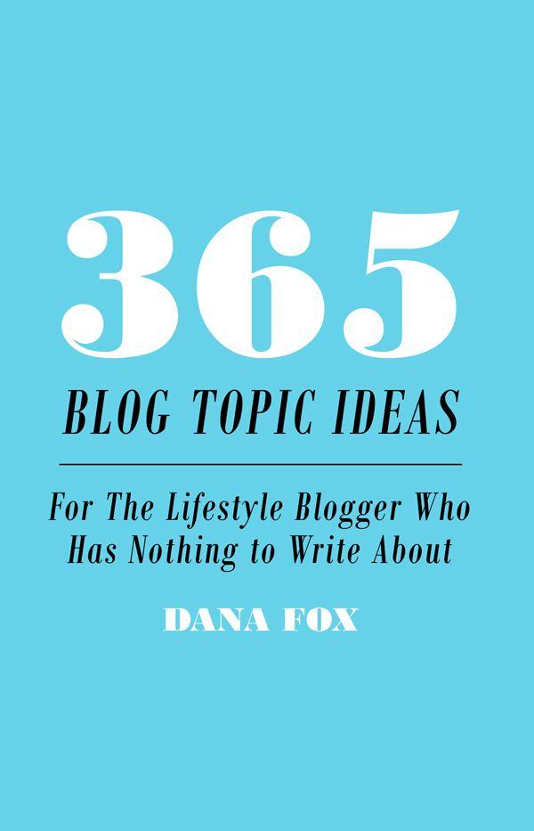 blog topics list