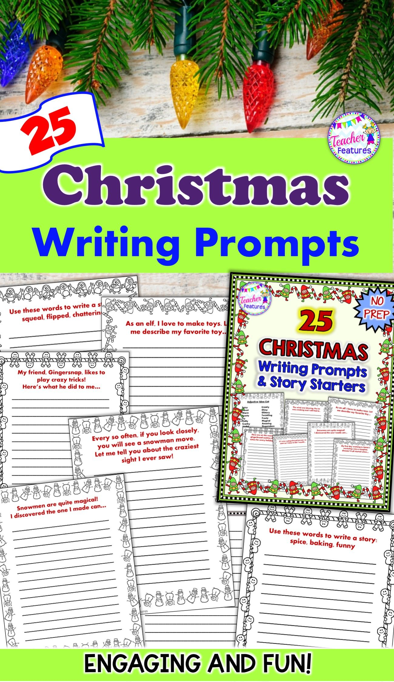 Christmas Writing Prompts 25 No Prep Starters