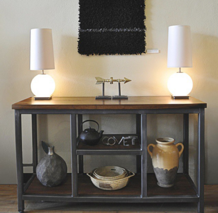 Four Fields Custom Furniture MN   Industrial Walnut Media Stand