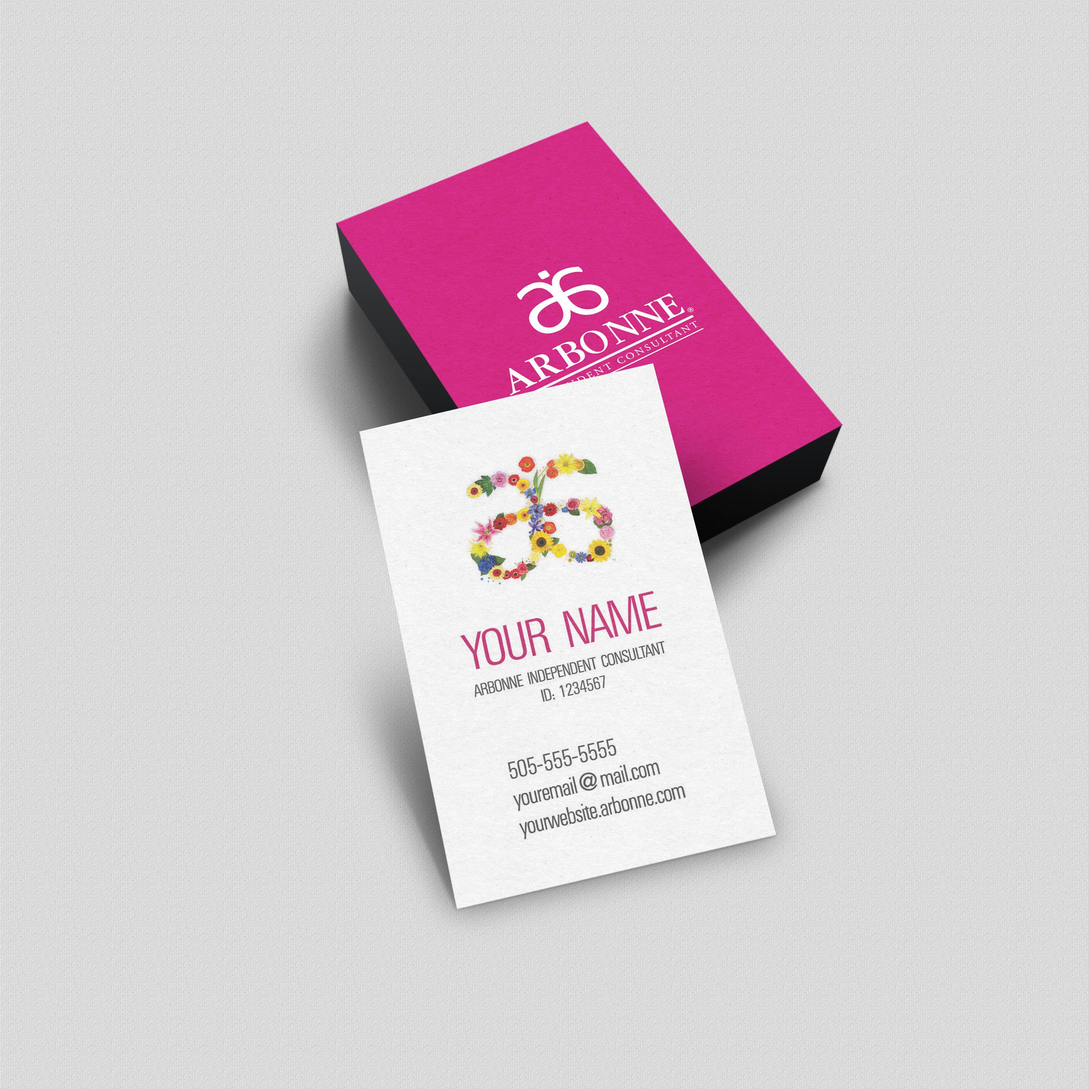 Arbonne Business Card - Logo flowers | Arbonne business ...