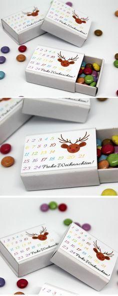 Tolles Geschenk Diy Adventskalender In Einer Streichholzschachtel