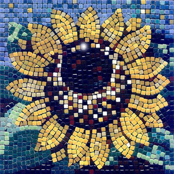 Mosaic sunflower - Mosaik Sonnenblume - Mosaique Tournesol - Micro Ceramic Tiles - Kit Alea Mosaik